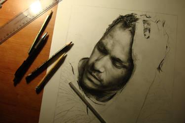 Heath Ledger -  WIP by DeniseEsposito