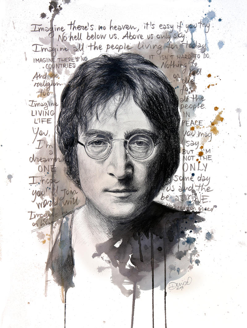 Imagine - John Lennon by DeniseEsposito
