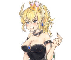 Bowsette by Edd-ee