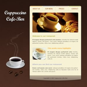 Cafe Template by apokalypseAT by designerscouch