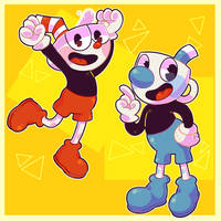 The Adventures of Cuphead and Mugman! by Nemufrog