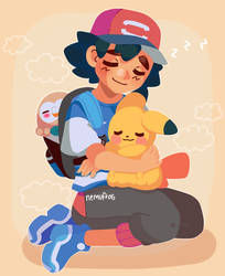 Afternoon nap by Nemufrog
