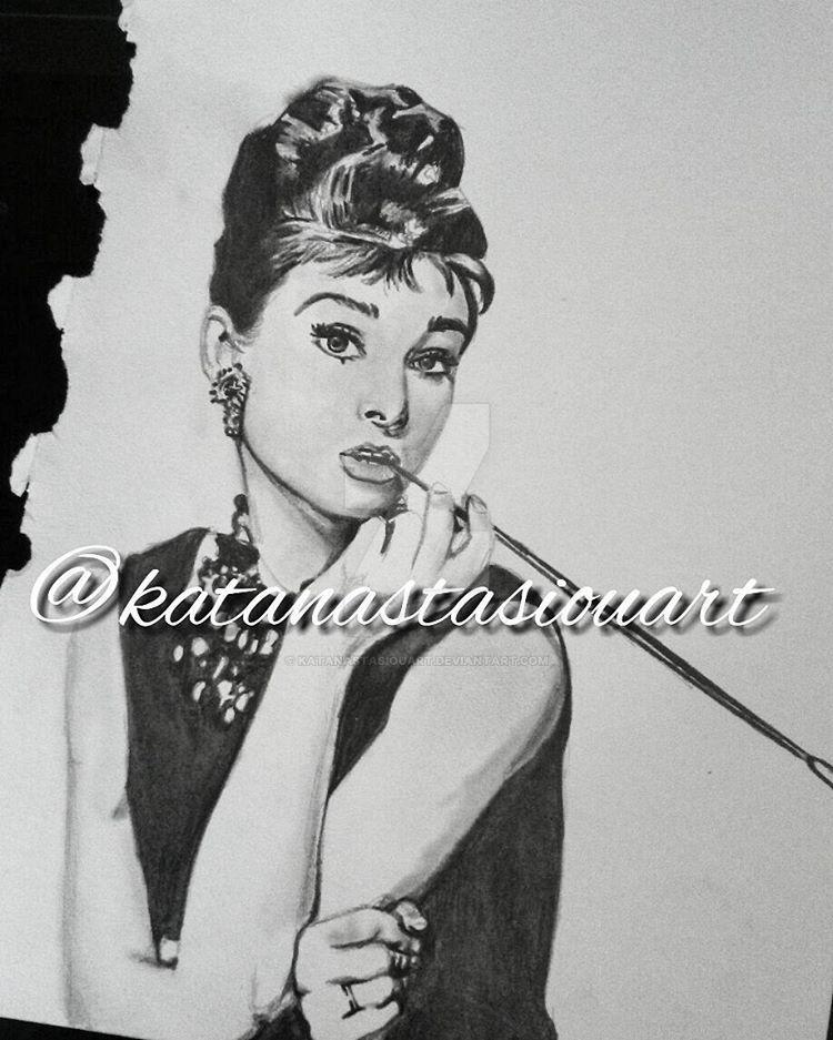 Audrey Hepburn by katanastasiouart