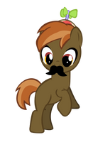 Button Mash 'Stache' Vector by KyoshiTheBrony