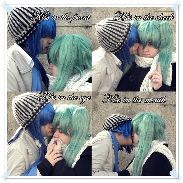 Kiss meme - Kaito and Miku by Le   Vocaloid Kaito And Miku Kiss