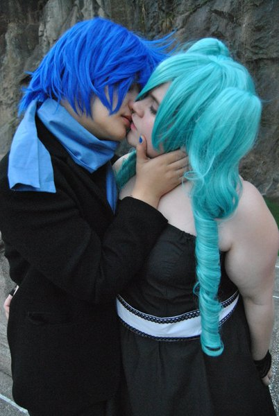 Kaito and Miku - Magnet kiss. by Lerdoloids