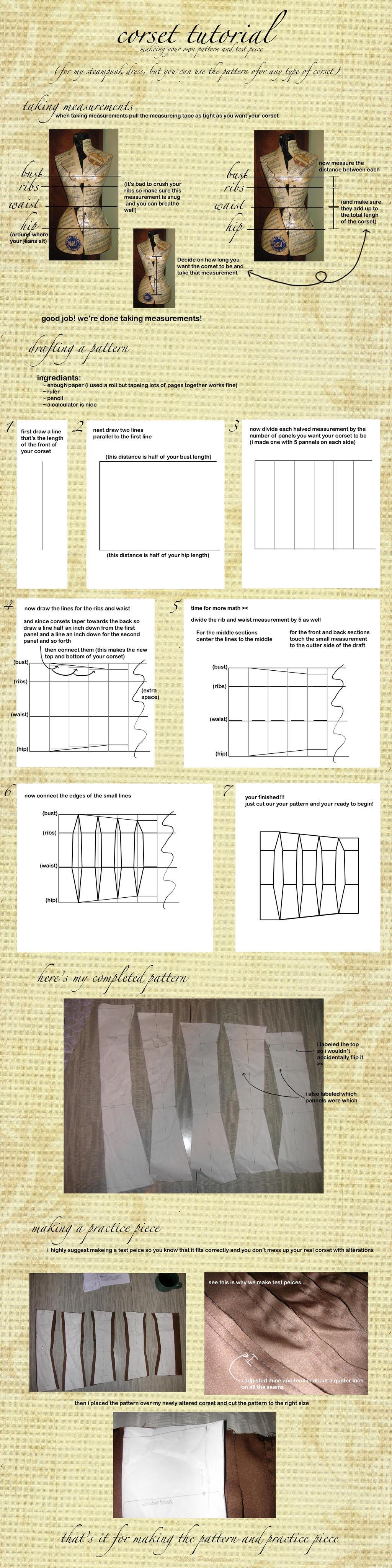 Corset Pattern Drafting Tutorial by KellaxProductions