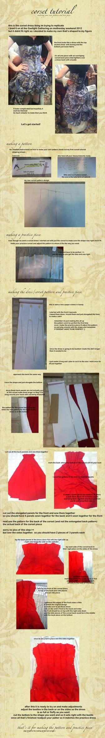 corset dress pattern tutorial