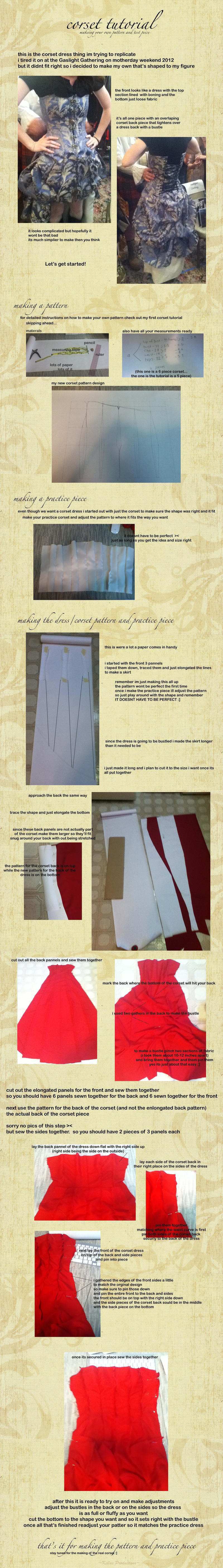 corset dress pattern tutorial by KellaxProductions