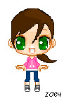 Left4Dead-Zoey Pixel by ImNotBoring102