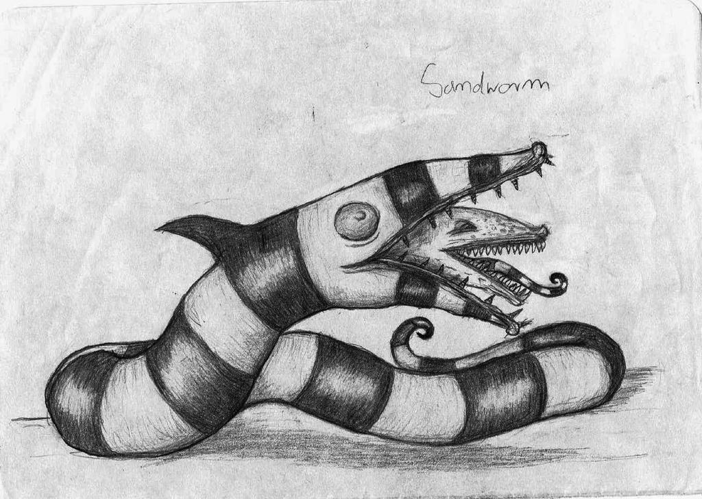 Beetlejuice - Sandworm by KingOvRats on DeviantArt