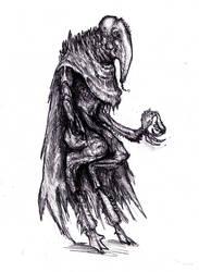 Lovecraft - Snouted Yaddithian by KingOvRats