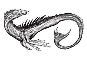 Cetus - Sea Dragon by KingOvRats