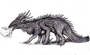 Dragon - Flightless Elder by KingOvRats