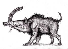 Monstrous Boar by KingOvRats