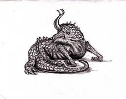 Lovecraft - Reptilan Dweller of Nameless City by KingOvRats