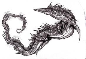 Lovecraft - Bokrug, Great Water-Lizard II by KingOvRats