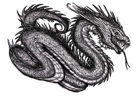 Jormungand, Sea Serpent by KingOvRats