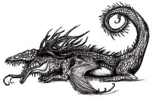 Nidhogg, Uderground Dragon by KingOvRats