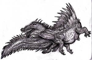 Cipactli, Sea Monster by KingOvRats