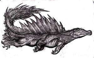 Cipactli, Sea Monster II by KingOvRats