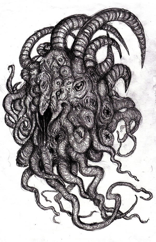Lovecraft - Shub-Niggurath, Goat with a 1000 Young by KingOvRats