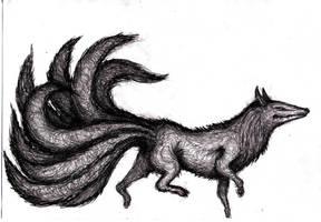 Nine-Tailed Kitsune Demon by KingOvRats