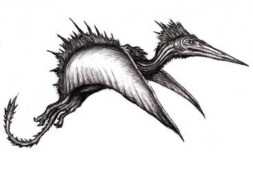Spinodactyl, Pterosaur Dragon, Kongamato by KingOvRats