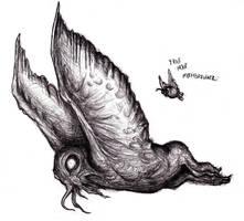 Mothman, Alien, Cryptid by KingOvRats