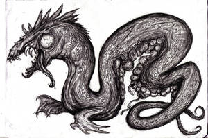Tiamat, Mother of Primordial Dragons by KingOvRats