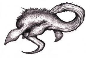 Loch Ness Monster, Plesiosaur Creature IV by KingOvRats