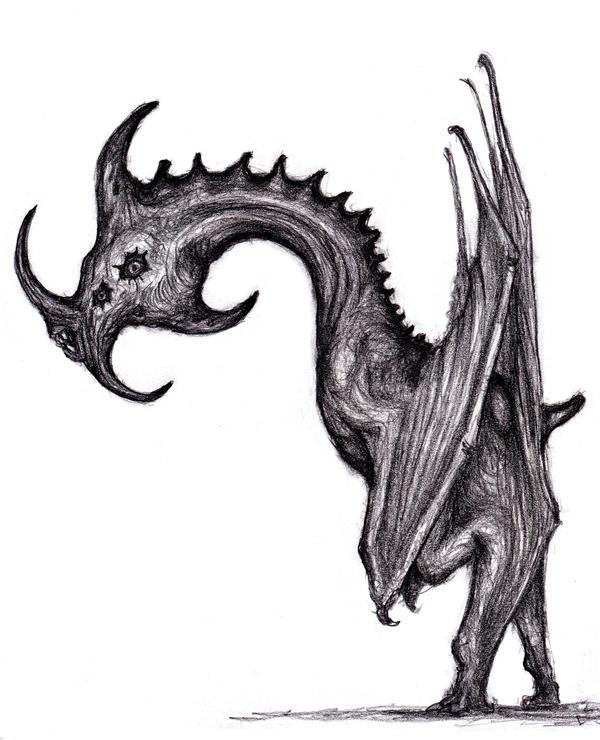 Four Winged Gargoyle by KingOvRats