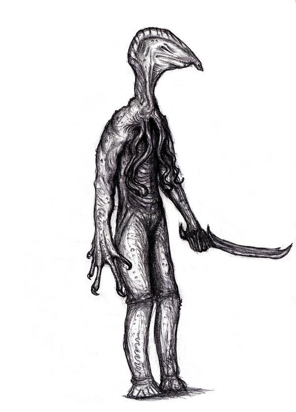 Lovecraft - Venusian Man-Lizard II by KingOvRats
