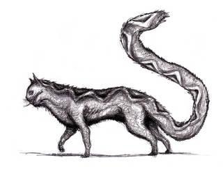 Snake-Cat Hybrid (Dream) by KingOvRats