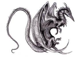 Winged Dragon XVI (Dream) by KingOvRats