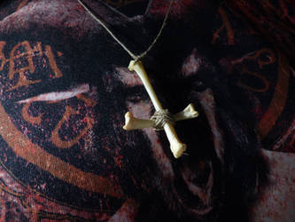Bone Cross Pendant by KingOvRats