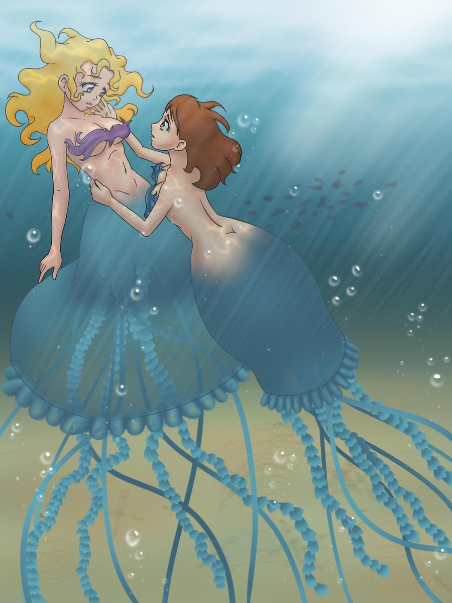 Art Trade: Jellyfish Girls by Tio-Cao