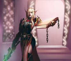 Blood Elf female by Sendolarts