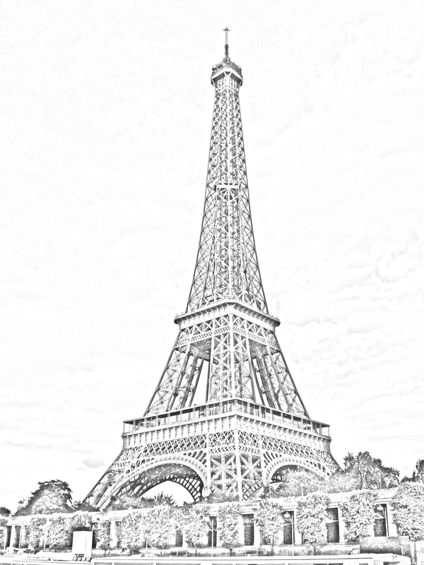 Eiffel Tower Paris Sketch By 878952 On DeviantArt