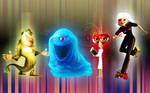Monsters Vs. Aliens Group Wall