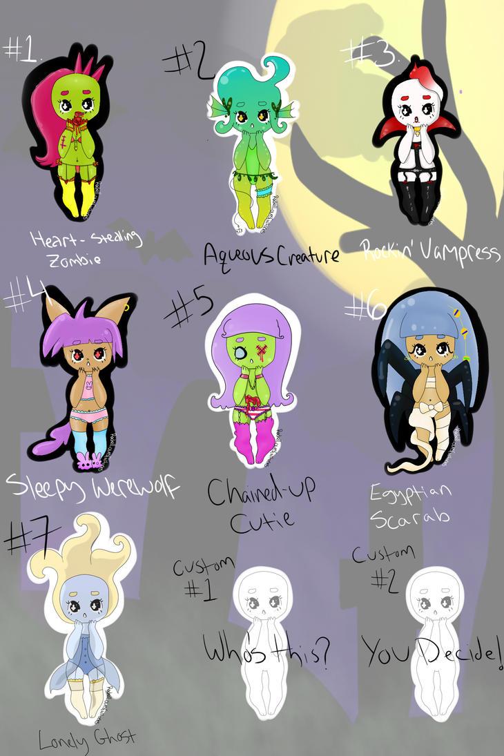 Monster Lingerie Adopts by ChewyMonster on DeviantArt