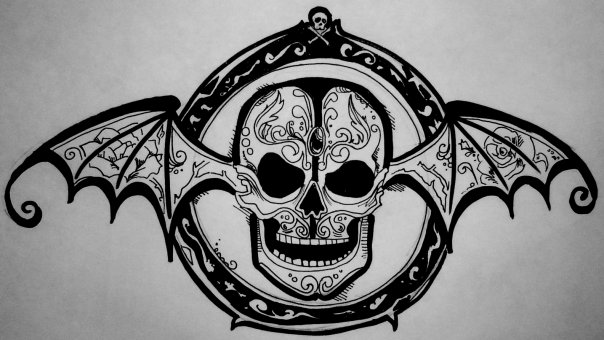 commission deathbat tattoo by idratherbehappy on deviantart. Black Bedroom Furniture Sets. Home Design Ideas