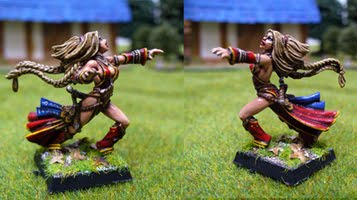 Seoni, iconic female sorceress by Endakil