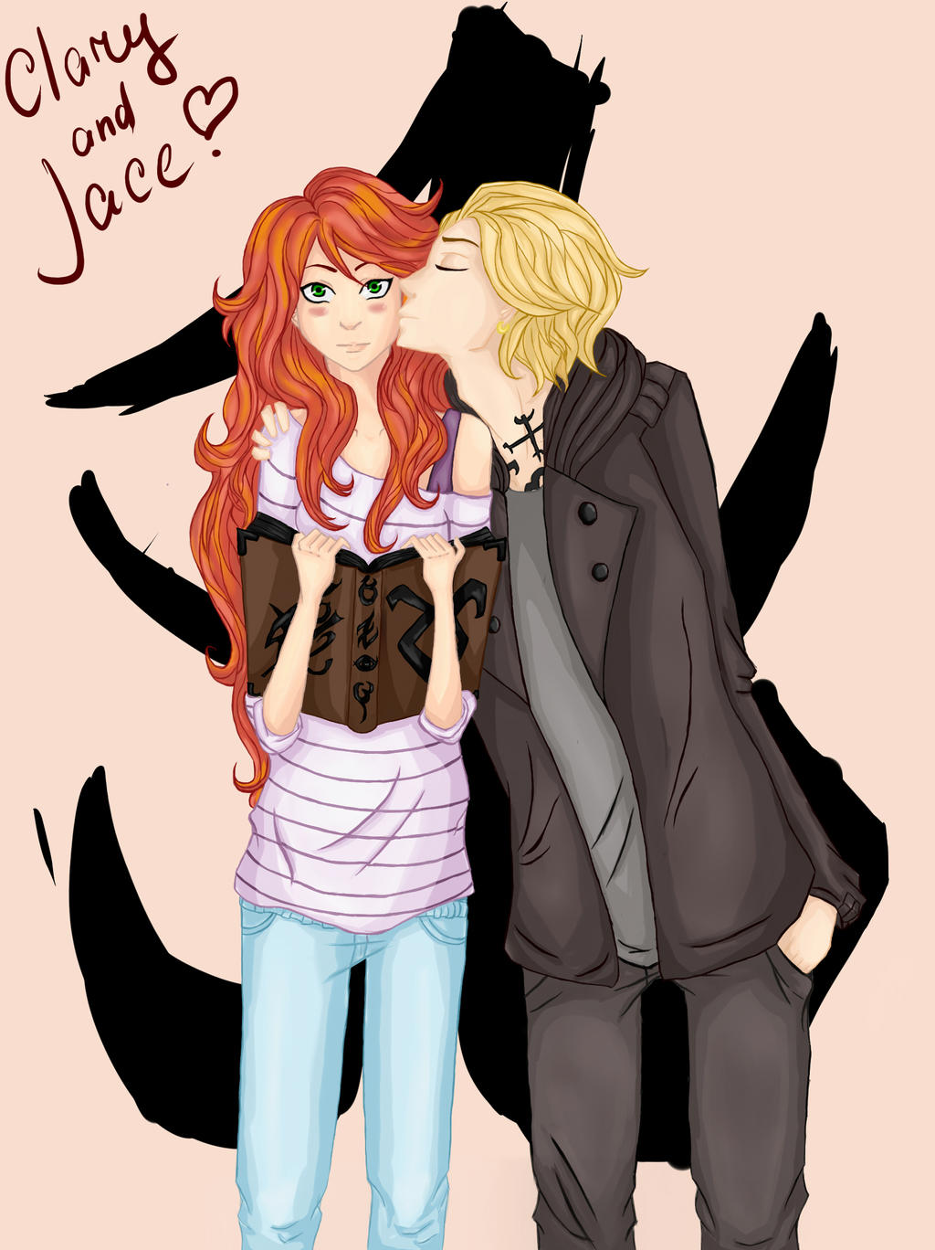 Jace and Clary - Art Trade by lalenca on DeviantArt  |Jace And Clary Fan Art Tumblr