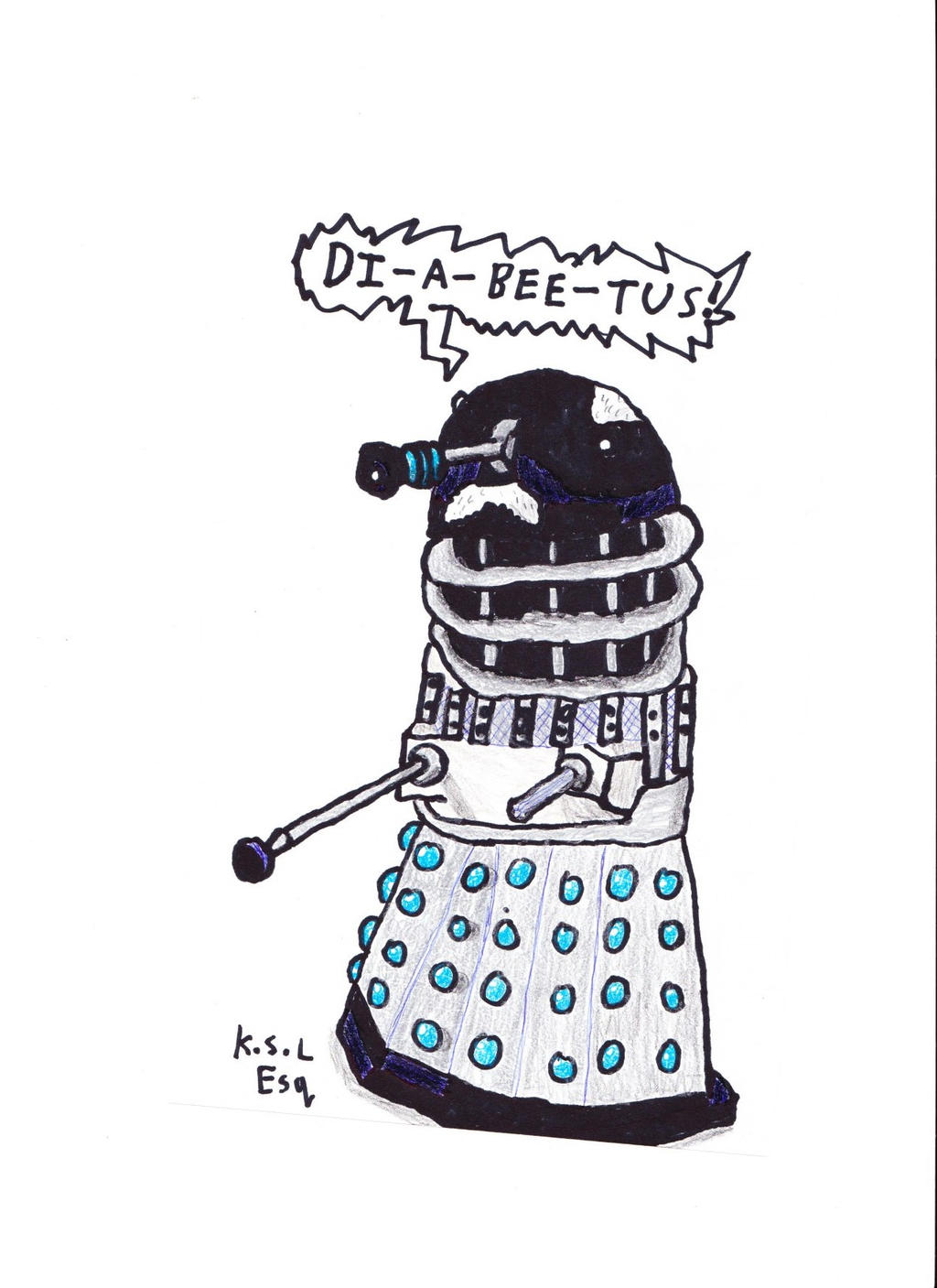 Wilford Brimley Dalek by The-Esquire