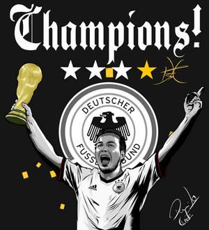 Mario Gotze Germany champions!