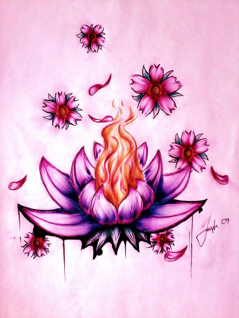 Lotus Flowers Drawings Lotus Flower by LeSwee...