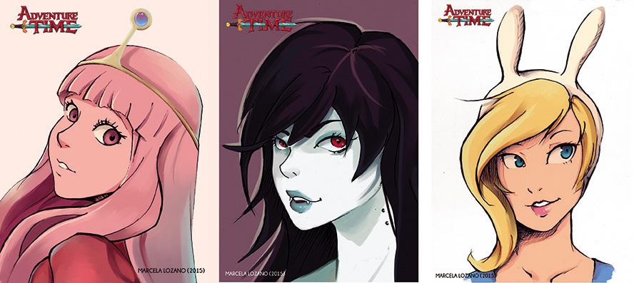 Adventure Time Girls by LupusCruoris