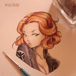 Black Widow Potrait