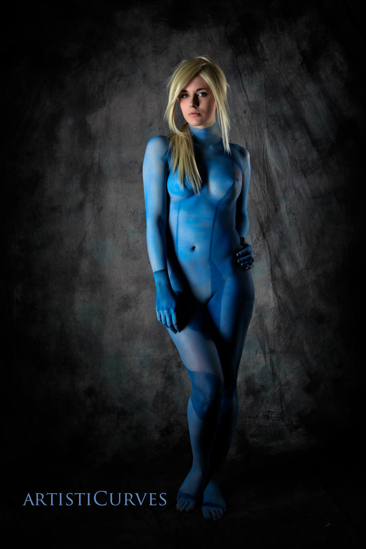 Samus II - Body paint Cosplay by oldmacman